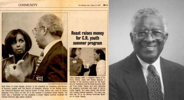 "First fundraiser ""roasts"" community icon Dr. Percy Harris"