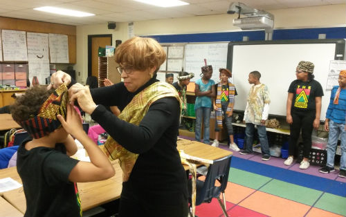 The Academy for Scholastic and Personal Success Expansion Program classroom