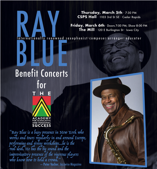 Academy for Scholastic and Personal Success Iowa Who We Are Ray Blue Concerts 2020
