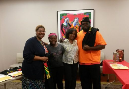 2014 Expansion Closing Ceremony-Charrisse Cox (ASPS Expansion Director), La'Khya Scott, Dr. Ruth White (Founder/Exec Director), and Demetrius Scott