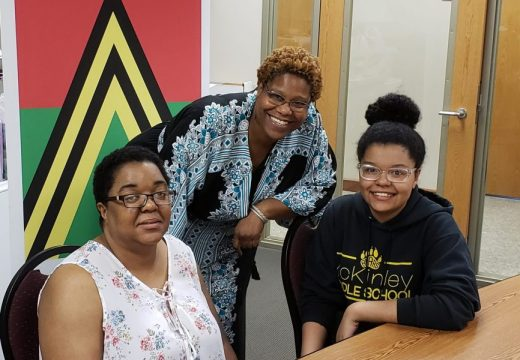 2018 Summer Session Interviewing - Tonia Servin, Charrisse Cox (ASPS Summer Assistant & Expansion Director) and Braja Servin