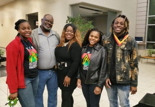 13th Annual Tribute (2019) at Hotel of Kirkwood. Roundtree Family: Destiny, Dedrick, Marcy, Diamond, and Dedric Roundtree (2019 ASPS Graduate).