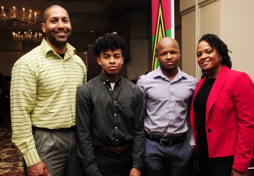 12th Annual Tribute (2018) at Ntl Czech Museum. Corey, Sire, Aiden, and Kim Abram-Bryant (previously an ASPS Board Member).