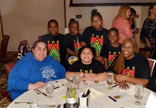 11th Annual Tribute (2017), Scottish Rite Temple, The Academy Expansion Students, Parent supporter, and Charrisse Cox (ASPS Expansion Director)